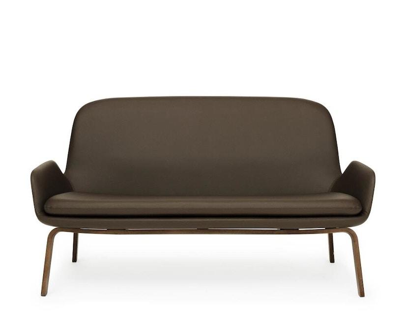 Normann Copenhagen - Era Sofa mit Holzgestell - Leder Tango 41598 - Walnuss - 2
