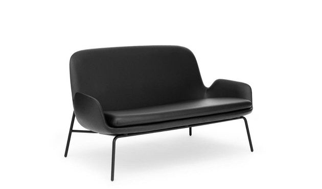Normann Copenhagen - Era Sofa mit Stahlgestell - Leder Tango 41599 - Schwarz - 2