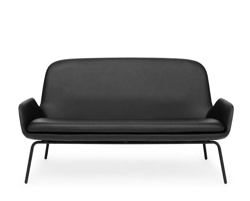 Normann Copenhagen - Era Sofa mit Stahlgestell - Leder Tango 41599 - Schwarz - 4
