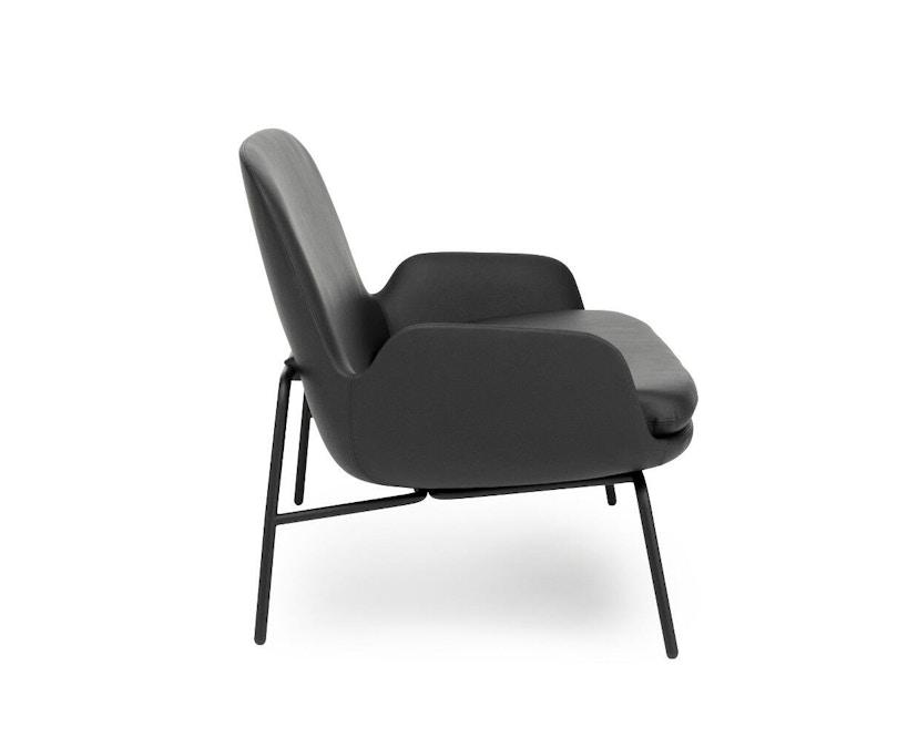 Normann Copenhagen - Era Sofa mit Stahlgestell - Leder Tango 41599 - Schwarz - 5