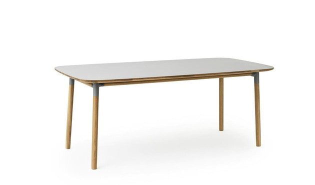 Normann Copenhagen - Form Tisch - grey/ oak - M - 2