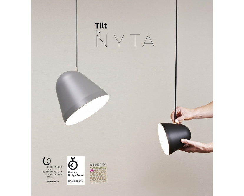 Nyta - Tilt Hängeleuchte - weiß - Kabel hellgrün 3m - 9