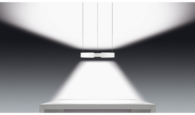 Occhio - Mito Sospeso 40 up Hanglamp - goud mat - zonder Occhio Air - vast - wide (table) - 2