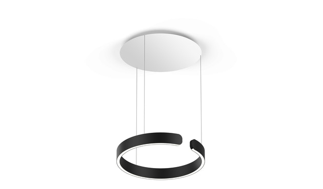 Occhio - Mito Sospeso 40 up Hanglamp - zwart mat - zonder Occhio Air - vast - wide (table) - 1