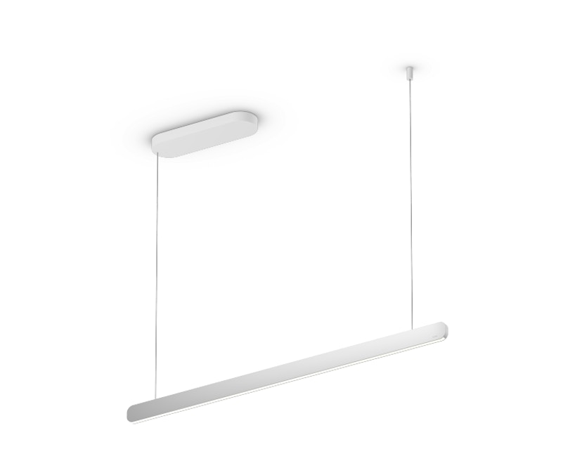 Occhio - Mito linear volo 100 Hanglamp - zonder Occhio Air - zilver mat - wide (table) - vast - 1