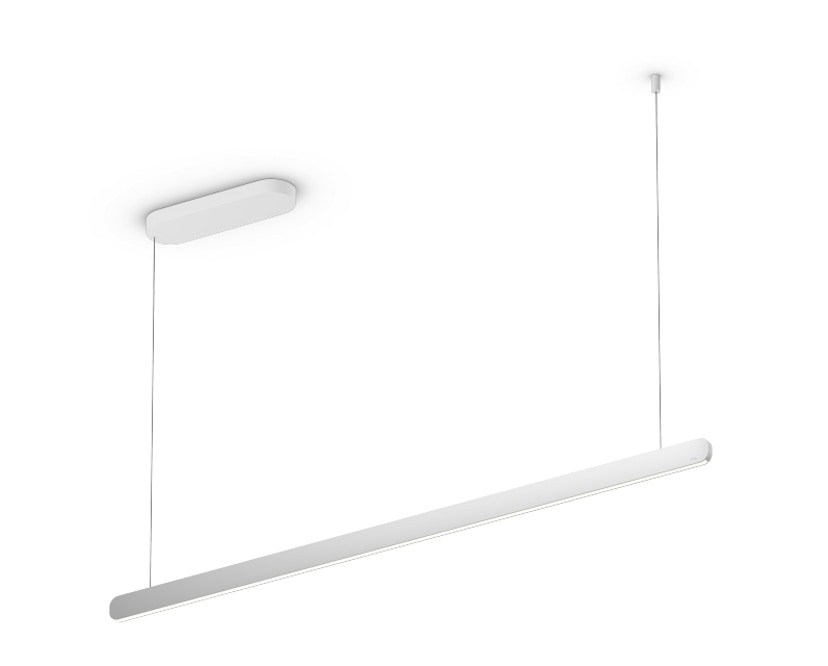 Occhio - Mito linear volo 140 Hanglamp - zonder Occhio Air - zilver mat - wide (table) - vast - 1