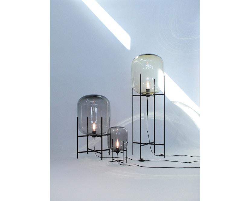 Pulpo - Oda Big Stehleuchte - Glas grau, Untergestell schwarz - 3