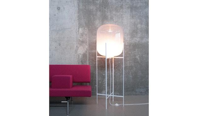 Pulpo - Oda Big Stehleuchte - Glas grau, Untergestell schwarz - 8