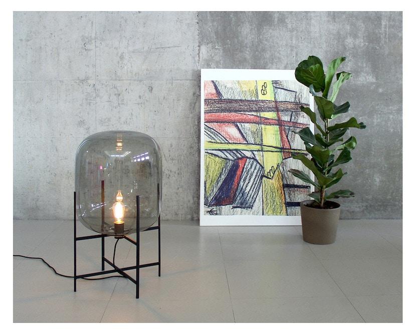 Pulpo - Oda Big Stehleuchte - Glas grau, Untergestell schwarz - 10