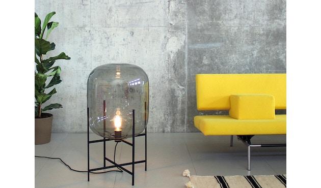 Pulpo - Oda Big Stehleuchte - Glas grau, Untergestell schwarz - 11