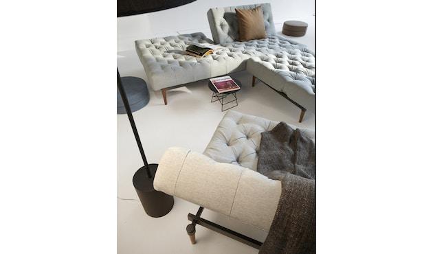 Innovation - Oldschool Schlafsofa - Dess. 461 Kunstleder braun - gedrechselte Beine, Ulme dunkel - 6