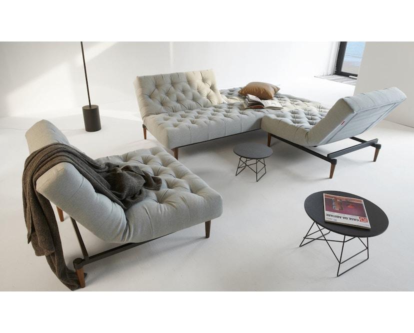 Innovation - Oldschool Sessel - Dess. 461 Kunstleder braun - gedrechselte Beine, Ulme dunkel - 6