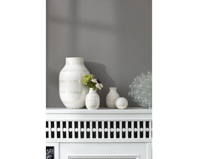 Kähler Design - Omaggio Keramiek Vaas - granietgrijs - H 12,5 cm - 4