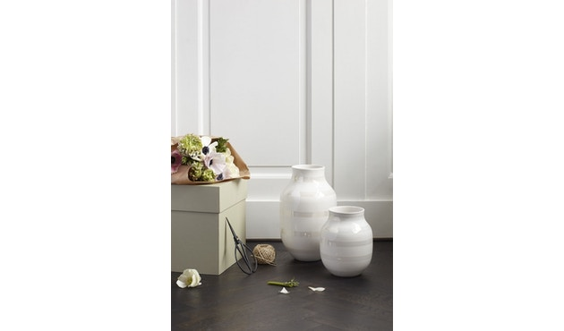 Kähler Design - Omaggio Keramiek Vaas - granietgrijs - H 12,5 cm - 3
