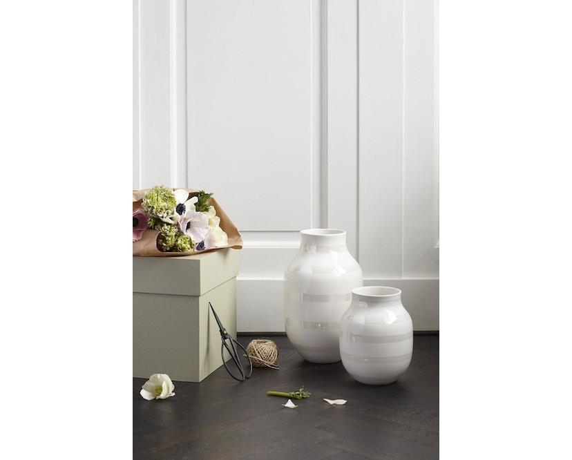 Kähler Design - Omaggio Keramikvase - H125 - granitgrau - 3