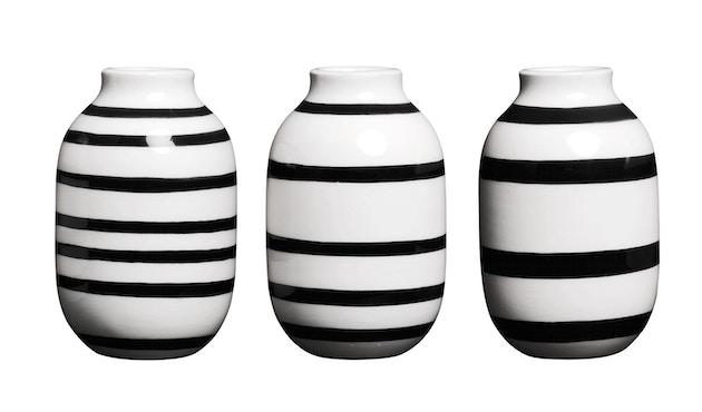 Kähler Design - Omaggio Vase-Miniatur 3er Set - schwarz - 1