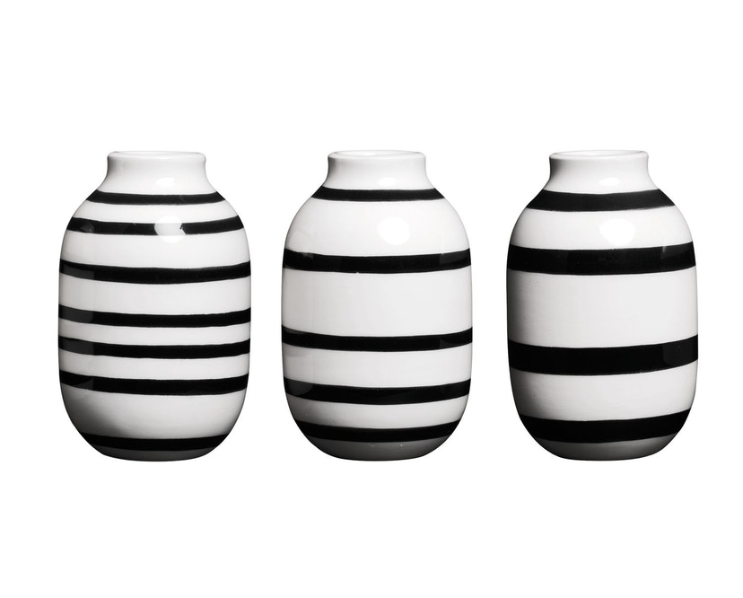 Kähler Design - Omaggio Vaas-Miniatuur Set van 3 - zwart - 1