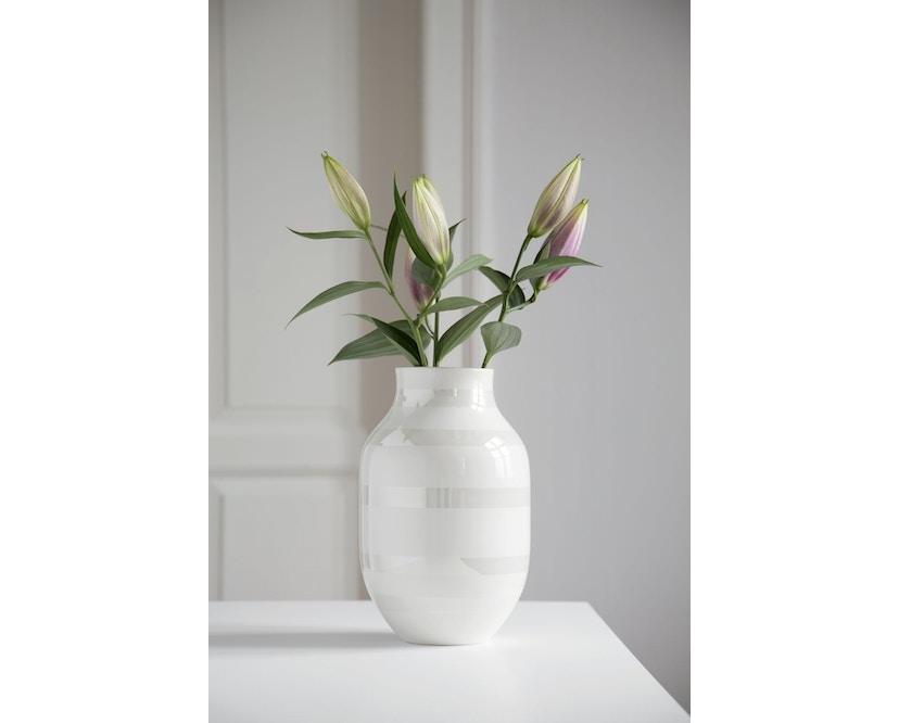 Kähler Design - Omaggio Keramiek Vaas - granietgrijs - H 12,5 cm - 12