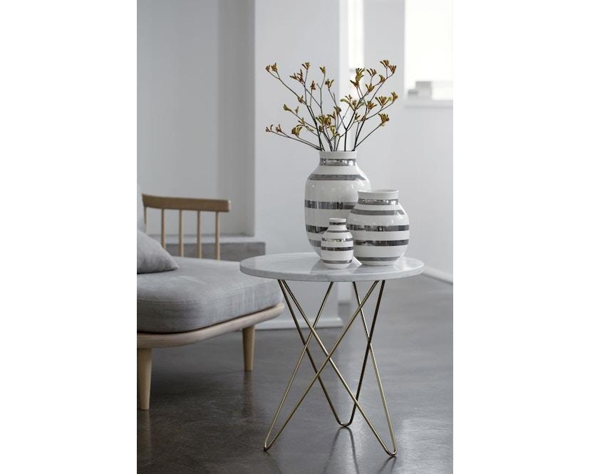 Kähler Design - Omaggio Keramiek Vaas - granietgrijs - H 12,5 cm - 6