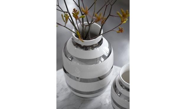 Kähler Design - Omaggio Keramiek Vaas - granietgrijs - H 12,5 cm - 5