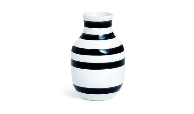 Kähler Design - Omaggio Keramiek Vaas - zwart - H 12,5 cm - 2