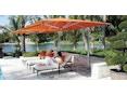 Tuuci - Ocean master MAX single cantilever Sonnenschirm - natural - 3,0 m quadratisch - 2
