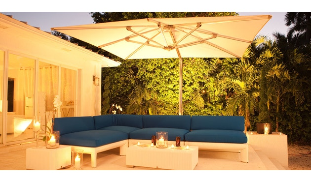 Tuuci - Ocean master MAX single cantilever Sonnenschirm - natural - 3,0 m quadratisch - 3