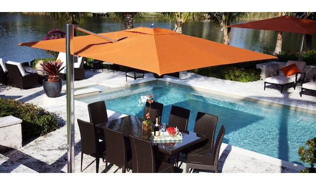 Tuuci - Ocean master MAX single cantilever Sonnenschirm - natural - 3,0 m quadratisch - 7