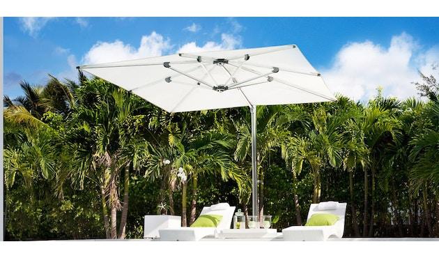 Tuuci - Ocean master MAX single cantilever Sonnenschirm - natural - 3,0 m quadratisch - 9