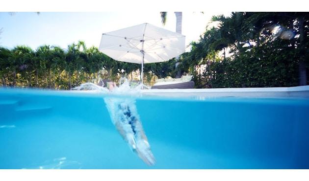 Tuuci - Ocean master MAX Klassik Sonnenschirm  - natural - 4,25 m quadratisch - 4