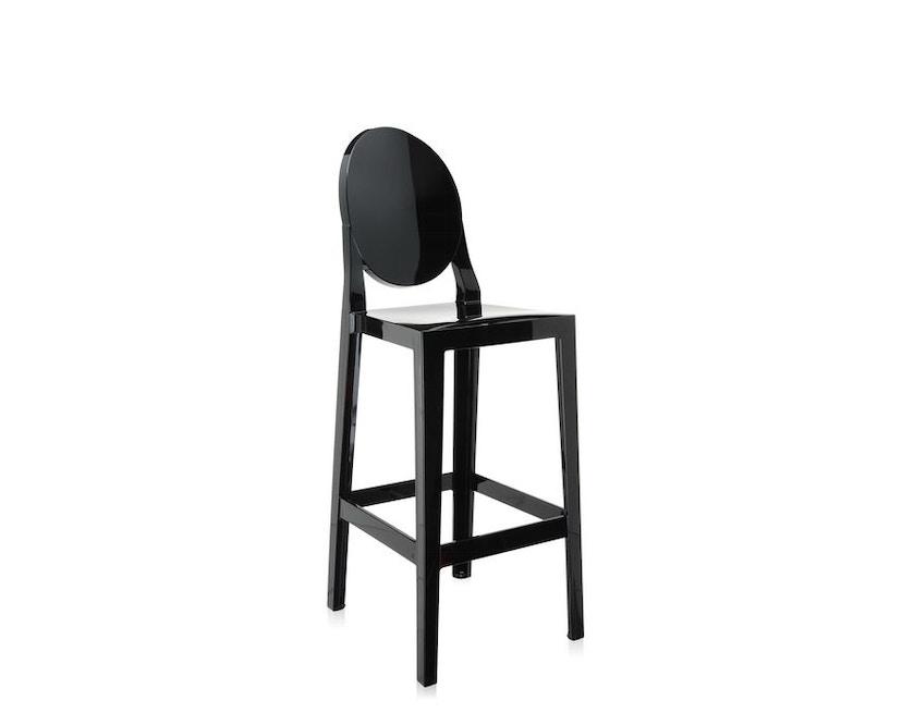 Kartell - One More Barhocker mit ovaler Rückenlehne - schwarz - Sitzhöhe 65 cm - 3