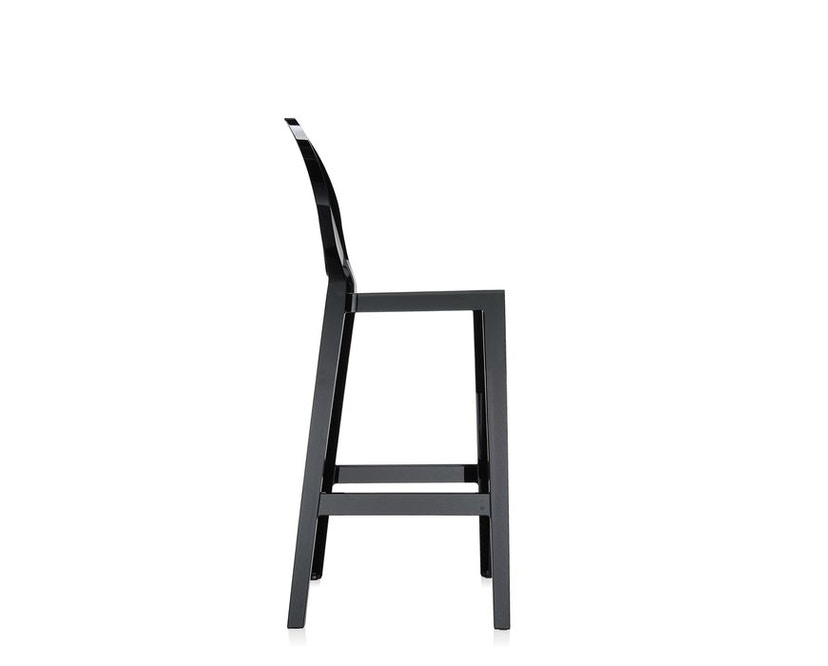 Kartell - One More Barhocker mit ovaler Rückenlehne - schwarz - Sitzhöhe 65 cm - 4