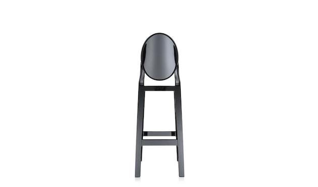 Kartell - One More Barhocker mit ovaler Rückenlehne - schwarz - Sitzhöhe 65 cm - 1