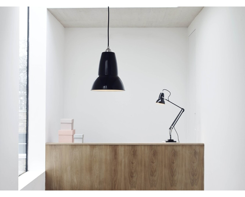 Anglepoise - Original 1227™ Brass bureaulamp - met tafelvoet - jet zwart - Ked - 7