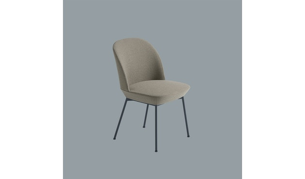 Muuto - Oslo Side Stuhl - Ocean 52/Gestell-Anthrazit schwarz - 3
