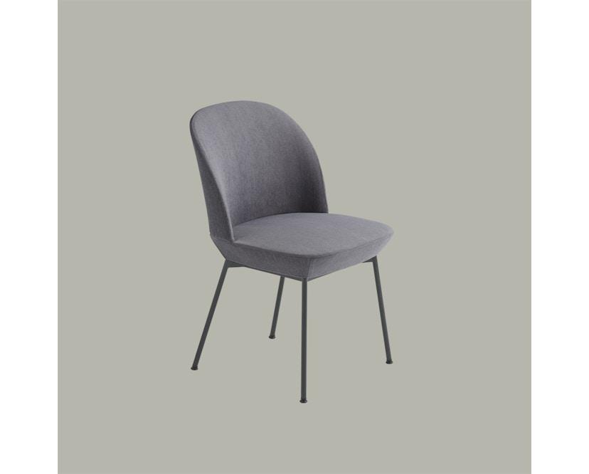 Muuto - Oslo Side Stuhl - Ocean 601/Gestell-Anthrazit schwarz - 3