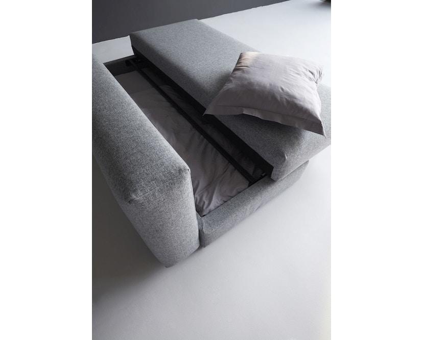 Innovation - Osvald Klappsofa inkl. 1x Kopfstütze Flip + 1x Topper - granite - 12