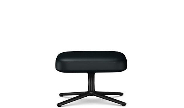 Vitra - Repos Ottoman - Sitzhöhe 45 cm - basic dark - Leder Kontrastnaht  nero - 1