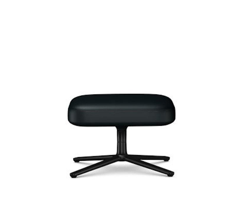 Vitra - Repos & Grand Repos Ottoman - Zithoogte 45 cm - Lederen contrastnaad 66 nero - zwart - 1