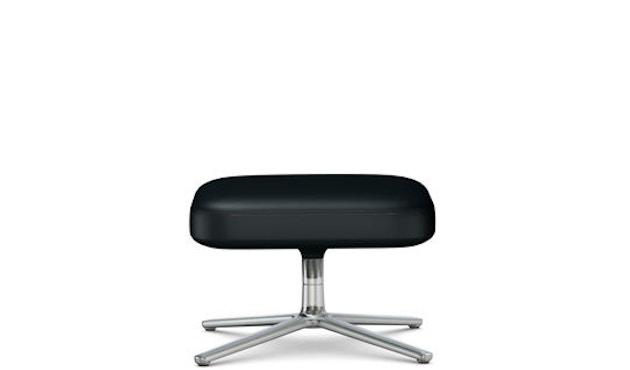 Vitra - Repos Ottoman - Sitzhöhe 45 cm - poliert - Leder Kontrastnaht  nero - 1