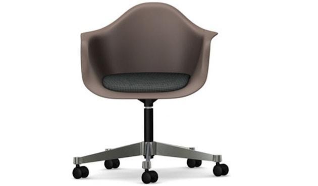 Vitra - Eames Plastic Armchair PACC mit Sitzpolster - Schale mauve grau, Bezug dunkelgrau - 1
