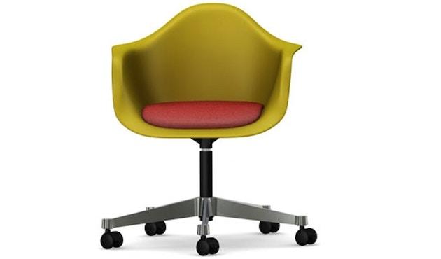 Vitra - Eames Plastic Armchair PACC met gestoffeerde zitting - Hopsak - rood/cognac - mosterd - 1