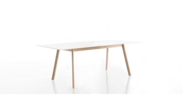 Conmoto - PAD Tisch  - HPL weiß - Eiche weiß - 1