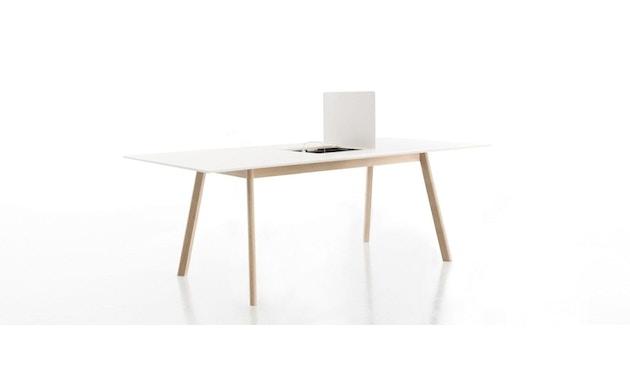 Conmoto - PAD Tisch mit Ausschnitt - CCL  weiß - Eiche weiß - 1