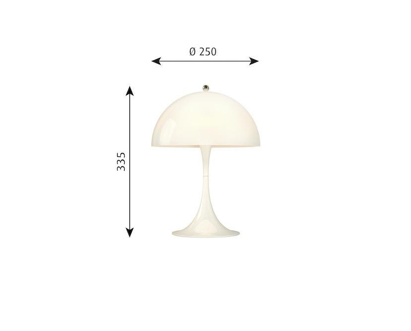 Louis Poulsen - Lampe de table Panthella Mini Version 2 - acrylique blanc opale - 4