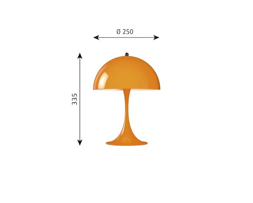 Louis Poulsen - Lampe de table Panthella Mini Version 2 - orange - 2