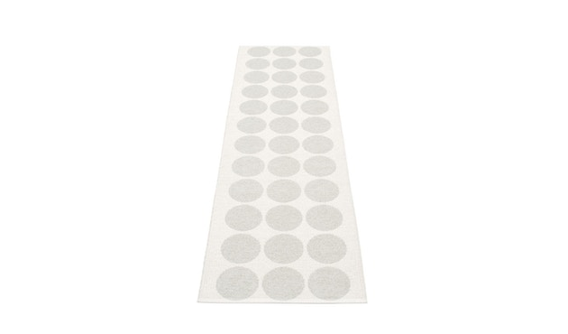 Pappelina - Hugo Wendeteppich - weiß metallic - 70 x 240 cm - 2