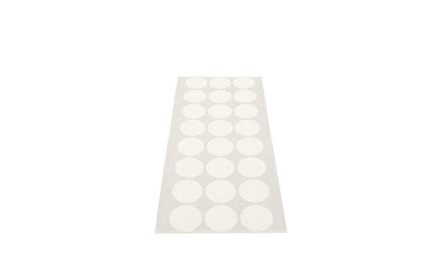 Pappelina - Hugo Draaivloerkleed - 70 x 160 cm - wit metallic - 1