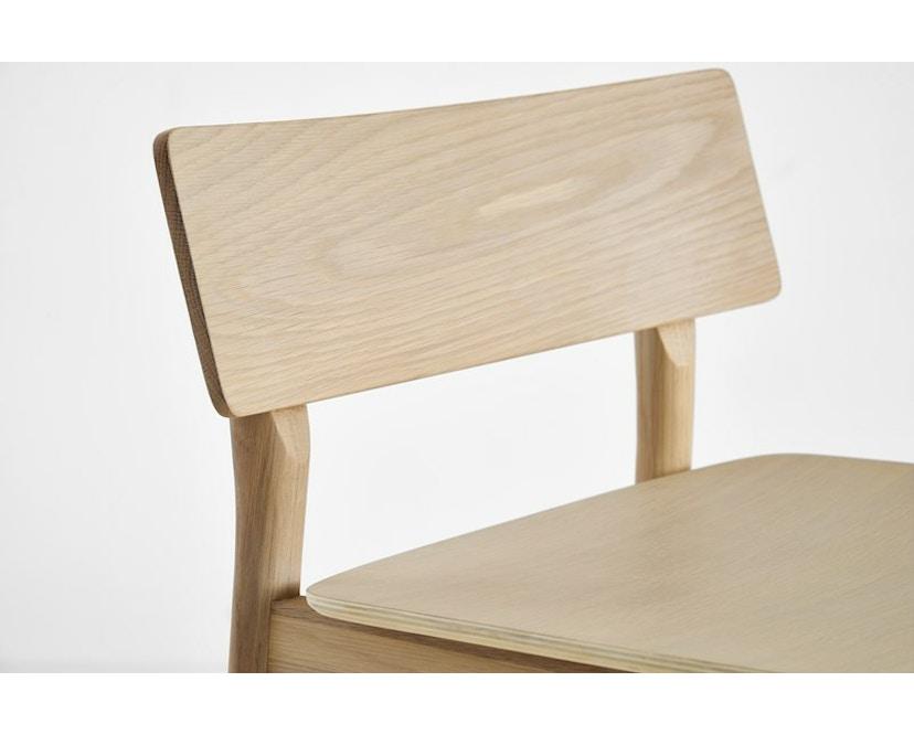 Woud - Pause Bar Stuhl - Sitzhöhe 65 cm - white pigmented lacquer oak - 6