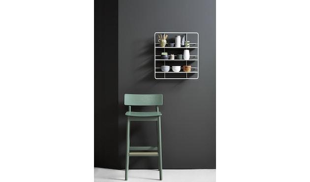 Woud - Pause Bar Stuhl - Sitzhöhe 65 cm - white pigmented lacquer oak - 7